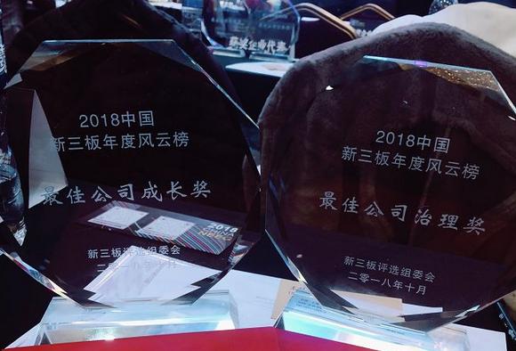 2018第二届中国新三板年度风云榜!第一体育荣获两项大奖!